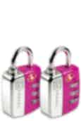 Go Travel Travel Twin Travel Sentry Lock Magenta
