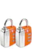 Go Travel Travel Twin Travel Sentry Lock Orange