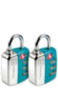 Go Travel Travel Twin Travel Sentry Lock Turquoise