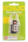 Korjo TSA Compliant Combination Padlock with Indicator