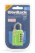 Korjo  Wordlock Resettable Combination Luggage Padlock