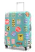 NZ Luggage Co Large Stretchy Spandex Luggage Cover Turquoise