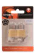 Samsonite 2 Pack Solid Brass Key Locks Gold