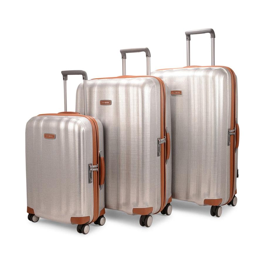 6b72ae7a246 Samsonite Lite-Cube DLX CURV Luggage Set 55cm, 76cm & 82cm Aluminium   Main