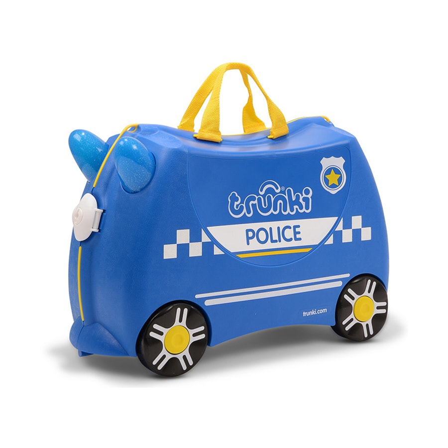 Trunki Percy The Police Car Kids Suitcase