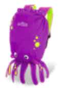 Trunki Inky the Octopus - Medium PaddlePak Kids Backpack Purple